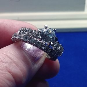 Zircon Diamond Wedding Set